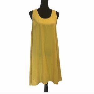 ICHI Aline sleeveless yellow sundress size medium